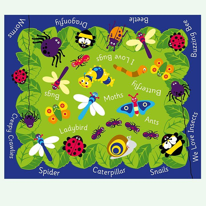 Back To Nature Mini Beasts CarpetClassroom Childrens carpetschildrens story time carpets and
